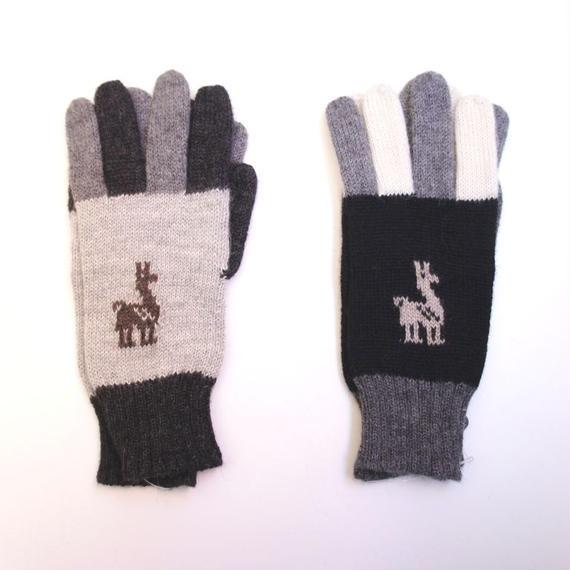 アルパカ手袋 ベビーアルパカ アルパカ柄(2色)