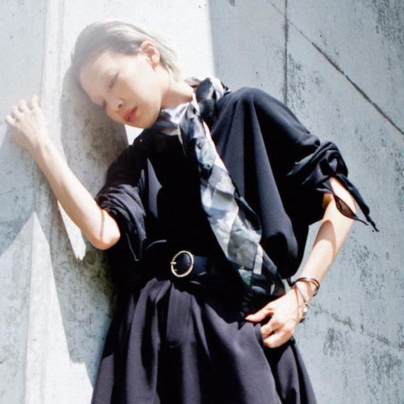 SHOKI JOETAKI 7分袖異素材 オーバーサイズカットソー