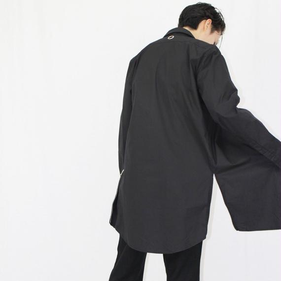 サイドジッパー ロング丈 アイレットデザインシャツ