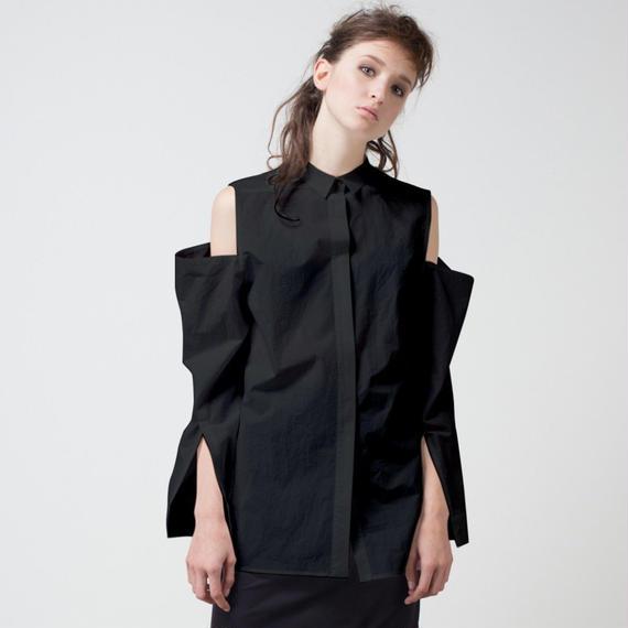 KETA GUTMANE ケタ グットマン Black shirt ショルダーオープン ブラックシャツ