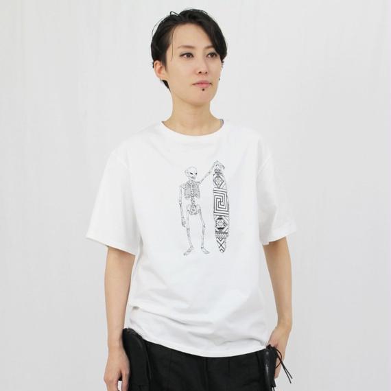スカルサーファー クルーネックTシャツ