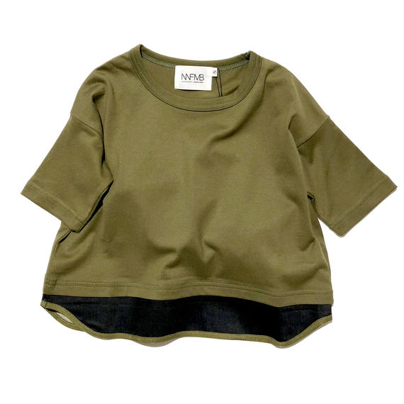 NNF MB / カーキヘムチェンジTシャツM(メンズ)