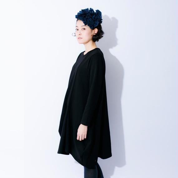 nunuforme /ドレープワンピース Black  95-145cm