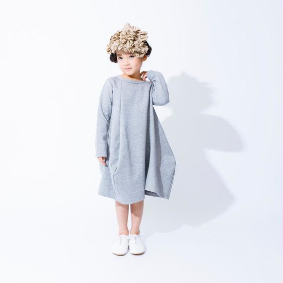 nunuforme /ドレープワンピース Top Gray  95-145cm