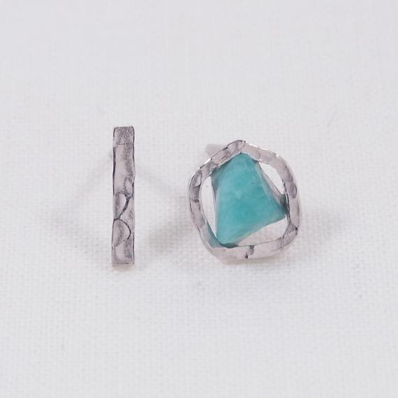 SV Amazonite/Asymmetry Earrings