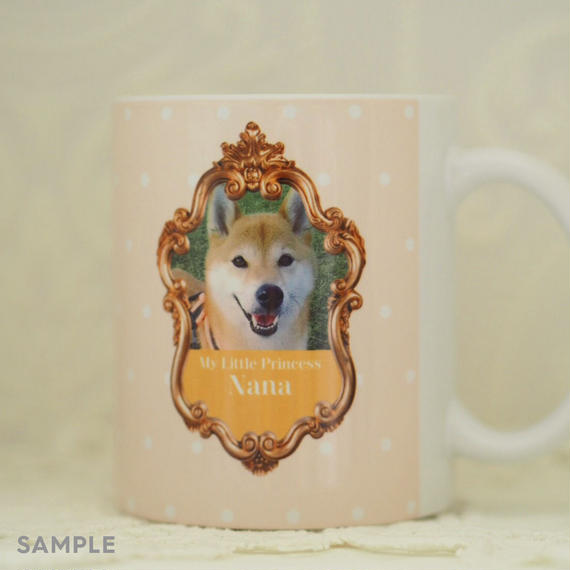 """うちのこの写真で作る!オリジナルマグカップ""""Lovely Mug""""  デザインタイプ: NaNa(ナナ)"""