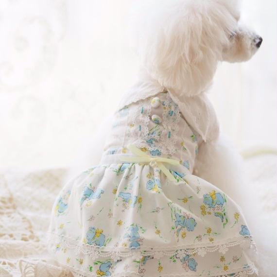 【 Lovely blue bear 】ラブリーブルーベアー ワンピース