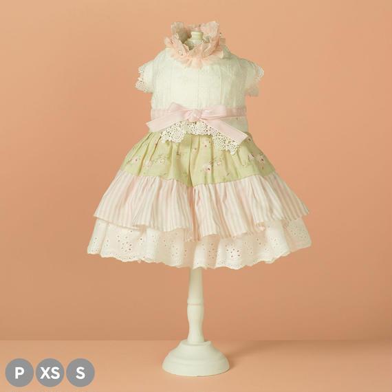 【 Frill Frill Dress (Pink Ribbon) 】フリルフリル・ドレス (ピンクリボン) (P / XS / Sサイズ)