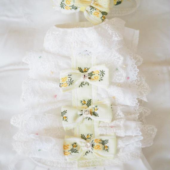 【Anniversary dress】Flower Girl Lemon/Parti du Rubanさんコラボカチューシャセット/Mサイズ