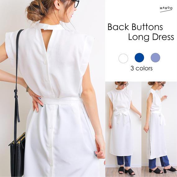 Back Buttons  Long Dress