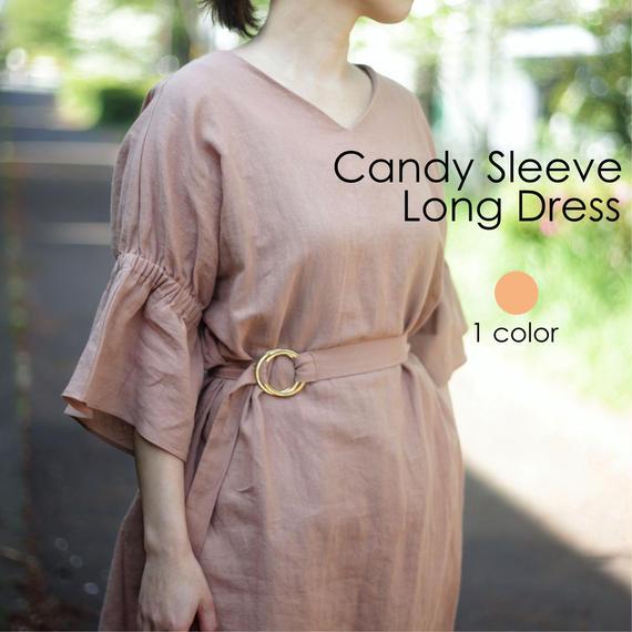 【Audrey and John Wad】Candy Sleeve Long Dress