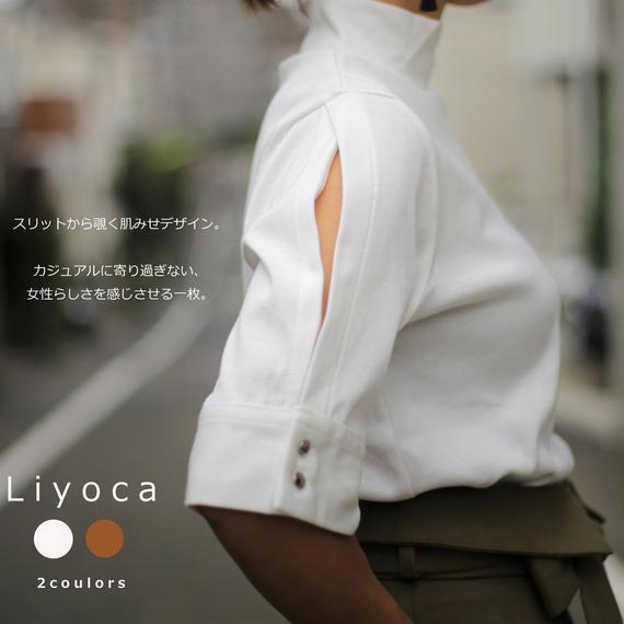 【Liyoca】Sleeve Slit Top