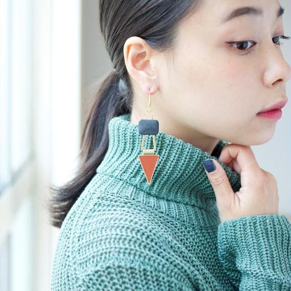 【David Aubrey】Agate Earrings