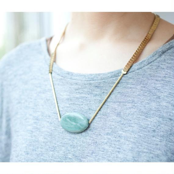 【David Aubrey】Stone Necklace