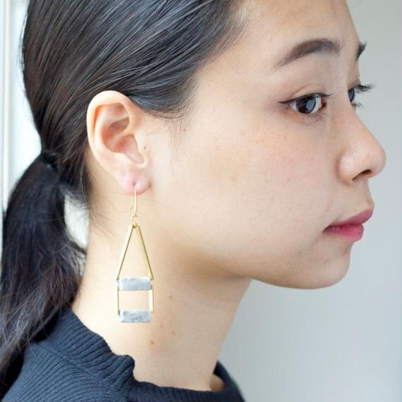 【David Aubrey】Marble Stone Earrings