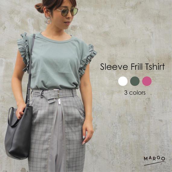 Sleeve Frill Tshirt