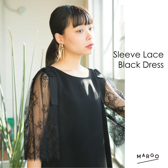 Sleeve Lace Black Dress