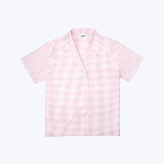 SLEEPY JONES // Corita Shirt Small Gingham Pink