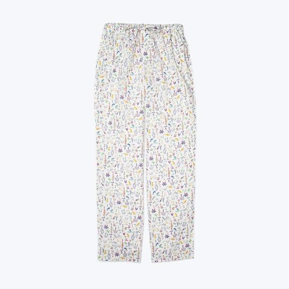 SLEEPY JONES // Marina Pajama Pant Liberty Theo Birds Yellow