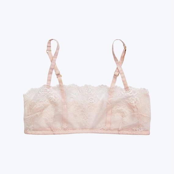 SLEEPY JONES // Carson Lace Bralette Pale Pink
