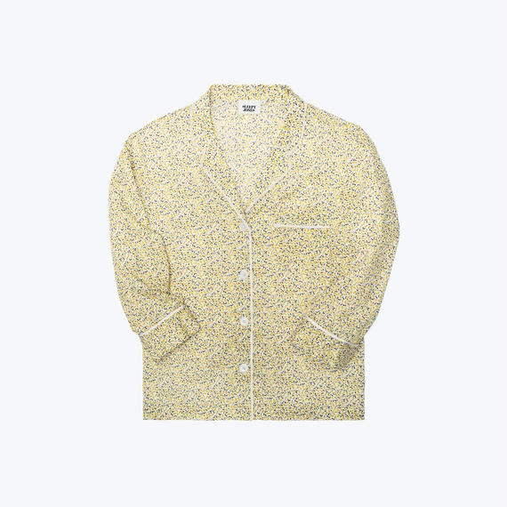 SLEEPY JONES // Marina Pajama Shirt Liberty Lemon Print Yellow