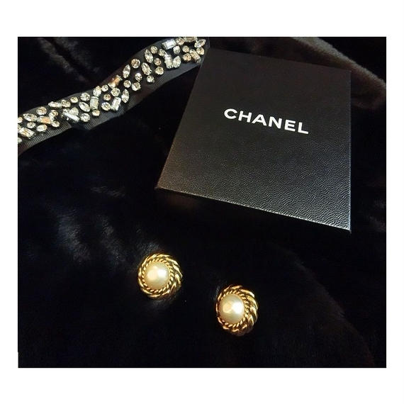 【vintage select】CHANEL パールイヤリング