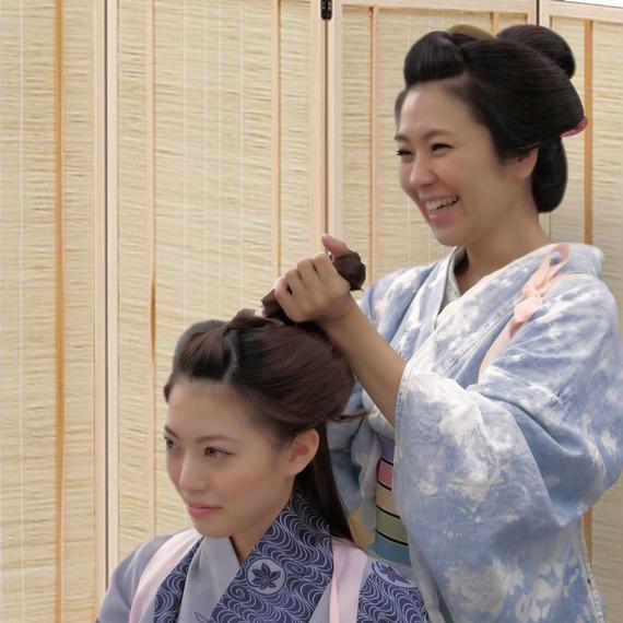 お店で購入「まるまげ」キット【日本髪レクチャー付き】