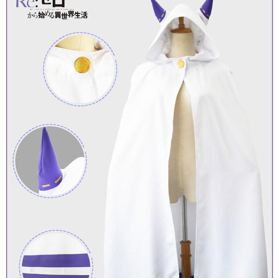 Re:ゼロから始まる異世界生活  エミリア 猫耳ケープマント  ハロウィン コスプレ衣装  8/21  44