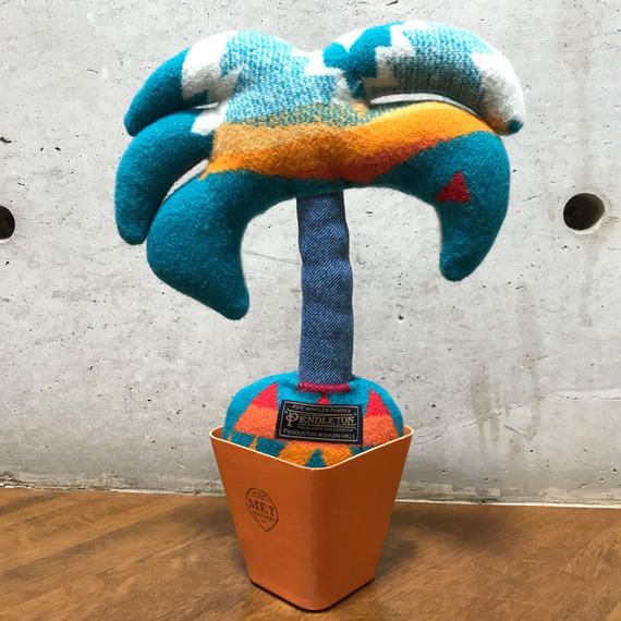 """PENDLETON×MB7r LITTLE PLANTS PALM TREE """"OVER ALL TURQUOISE"""""""