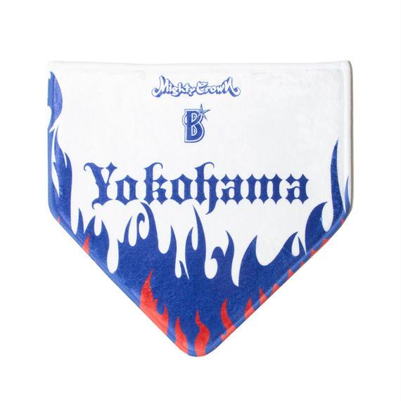 """横浜DeNA ベイスターズ X Mighty Crown """"Flame Home Base Mat"""" by Nine Rulaz"""
