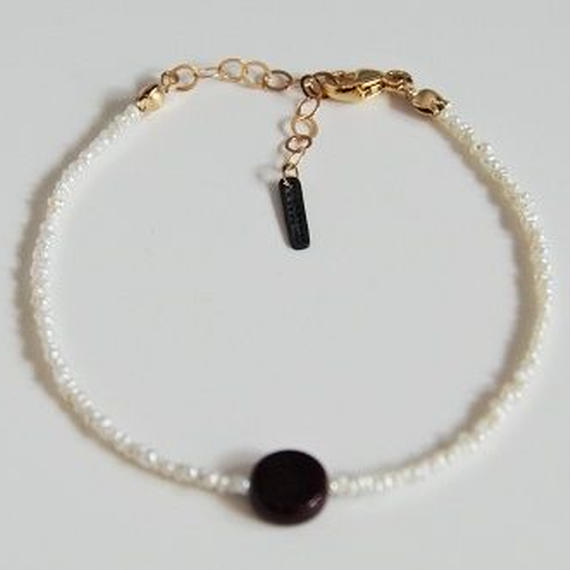 Grass Beads Bracelet (Bordeaux)