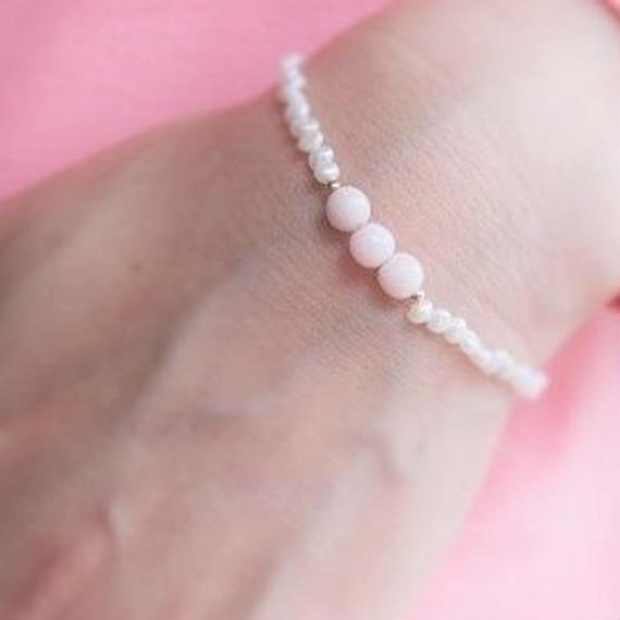 Vintage Beads Bracelet (Palepink)