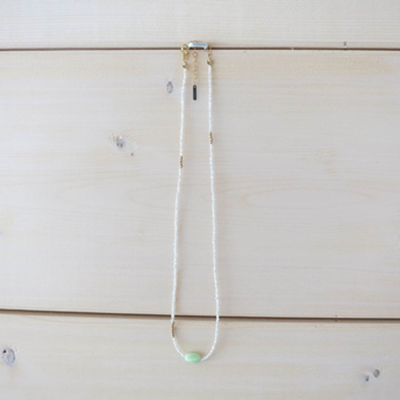 Vintage Lime Beads Neckless