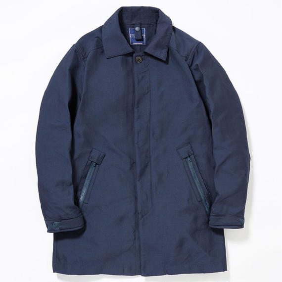 Memory Double Cloth Twill Bal Collar Coat/NAVY
