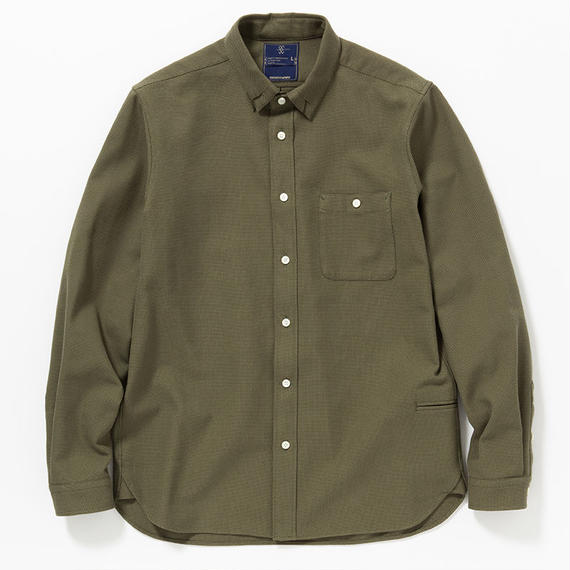 Cotton Birds Eye Loop Down SH/KHAKI