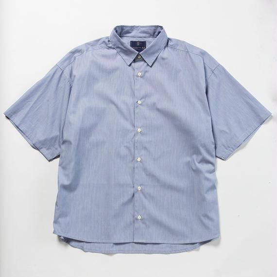 Pinstripe Popper S.S. Shirt/NAVY [MW-SH18105]
