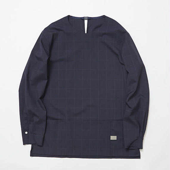 Cordura Wool Stretch Window-pen Pullover SH/NAVY