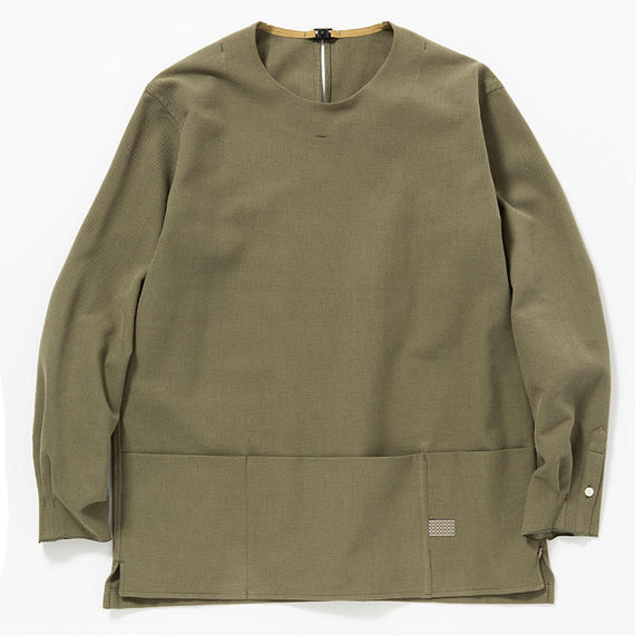 Cotton Birds Eye Pullover SH/KHAKI
