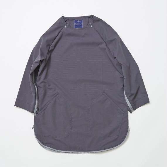 Water-repellent Dot Mesh Loop Zip Sweatshirt/CHARCOAL
