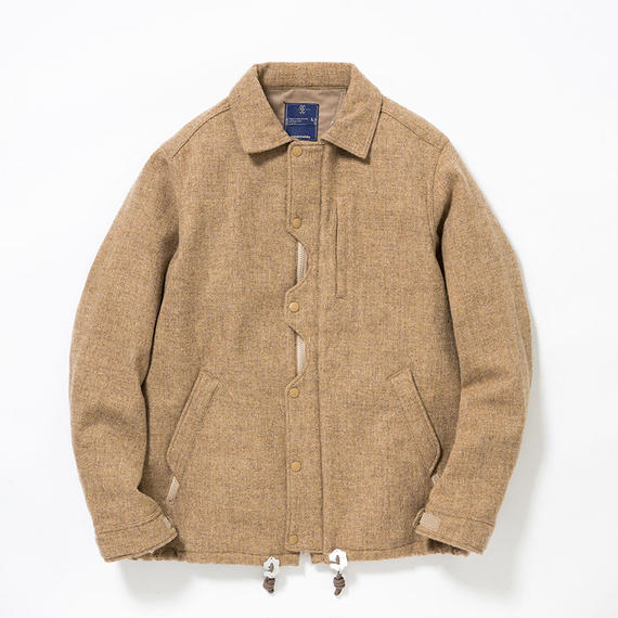 Wool Tweed Odd Job Flap Coach JK/BEIGE