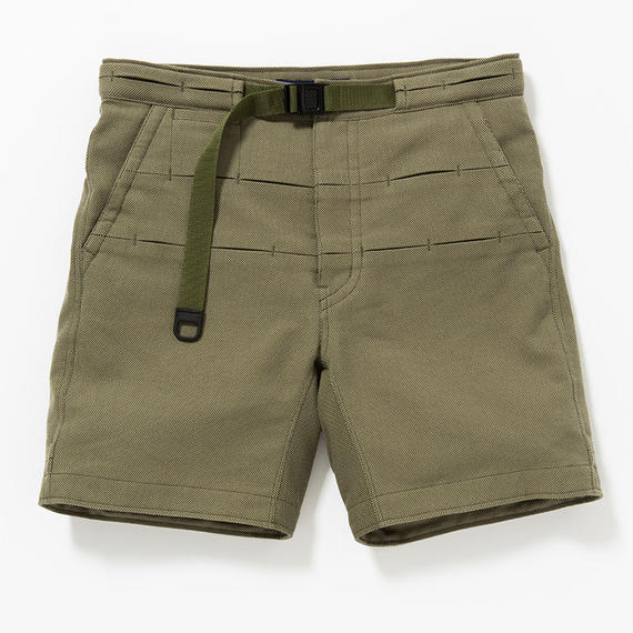 Cotton Birds Eye Waving Cord Board Shorts/KHAKI