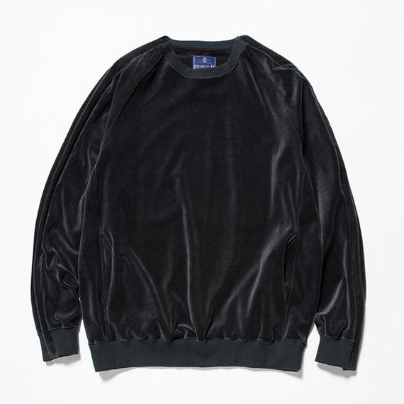 Velour Popper Sweat/CHARCOAL