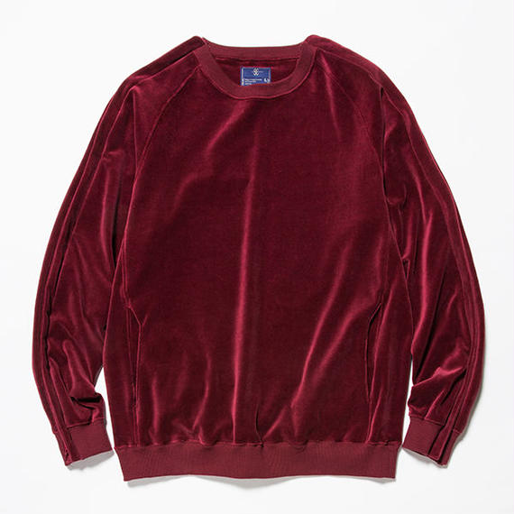 Velour Popper Sweat/WINE