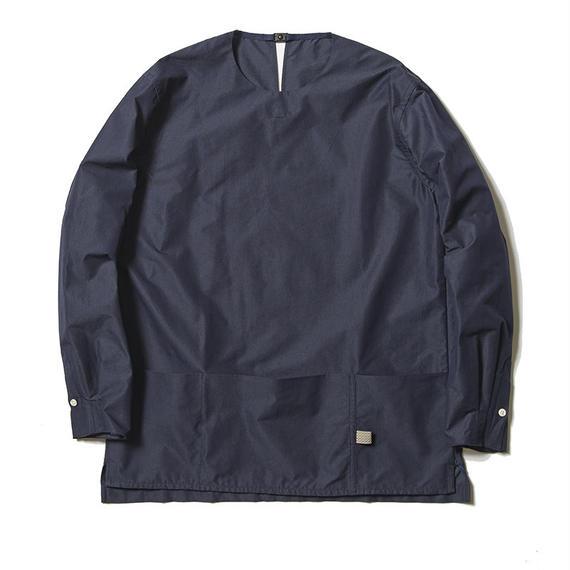 Micro Herringbone Pullover SH/NAVY