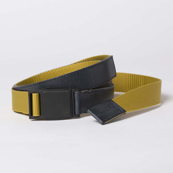 Leather and Nylon Quick Release Belt/COALxOCHER