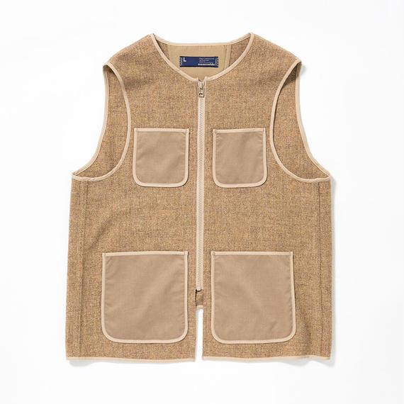 Wool Tweed Liner Vest/BEIGE