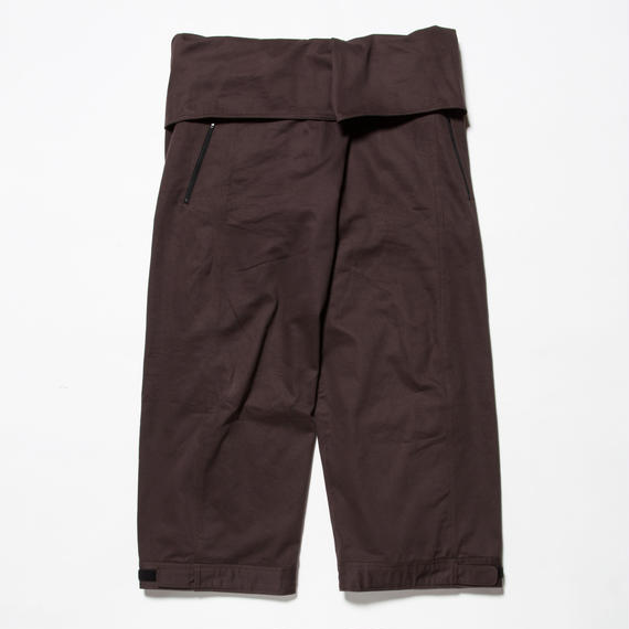 Cotton Chino Wrap Pant/BURGUNDY [MW-PT18201]