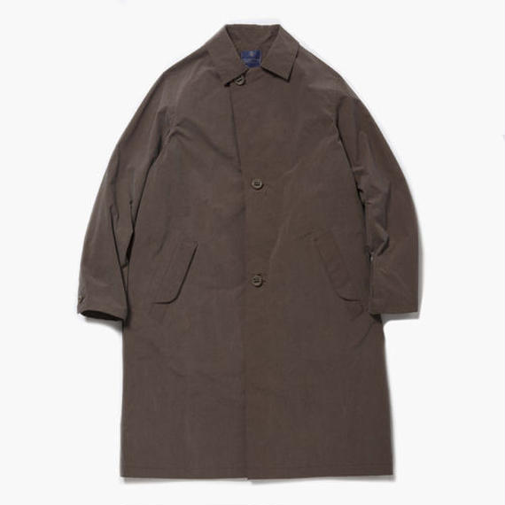 Konbu Nylon Over Coat/ RUST BROWN