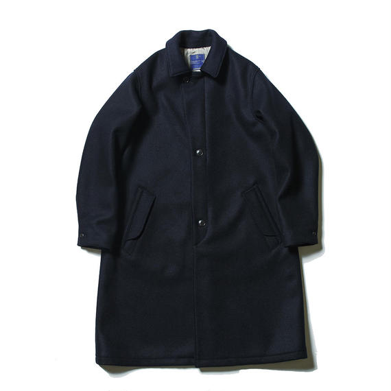 Double Melton Over Coat/NAVY
