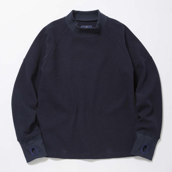 Jacquard Waffle High-Necked/MIDNIGHT